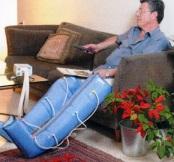 Man Wearing PBS pump and Sleeves